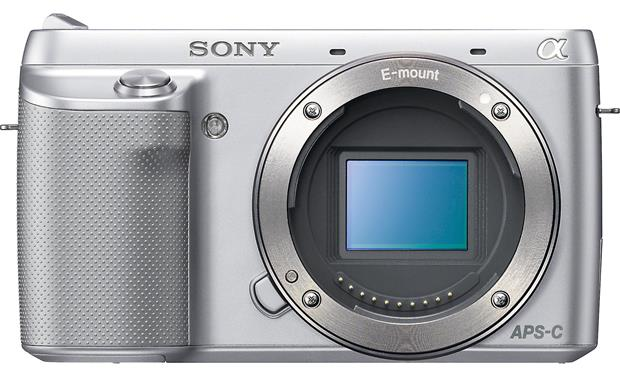 Sony Alpha NEX-F3 Front, straight-on (Body only)