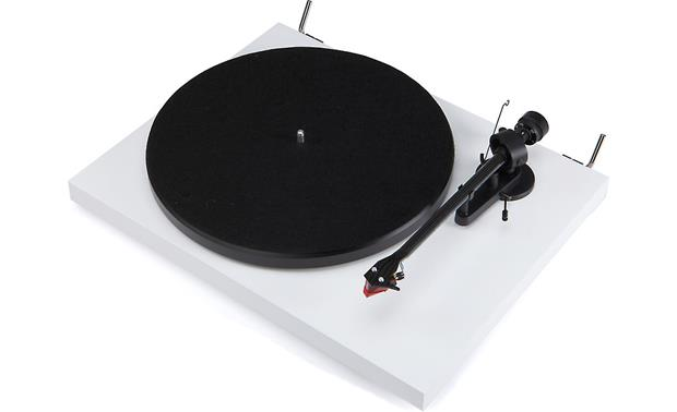Pro-Ject Debut Carbon Gloss White (shown with dust cover removed)