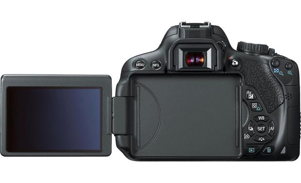 Canon EOS Rebel T4i Kit with 18-55mm Lens Back, with articulated LCD touch panel extended