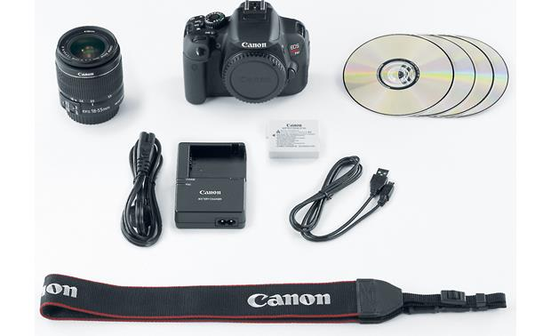 Canon EOS Rebel T4i Kit with 18-55mm Lens Supplied accessories