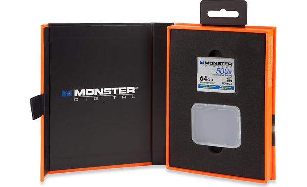 Monster Digital Compact Flash Memory Card Shown in packaging