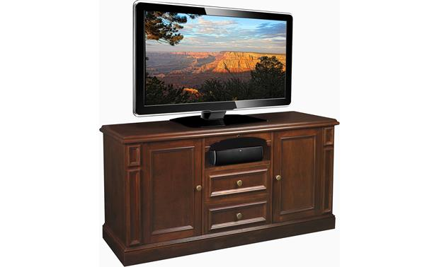 American Quality Furniture Piedmont Cabinet With solid wood door panels (TV and components not included)