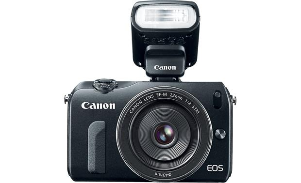 Canon Speedlite 90EX Shown mounted on the Canon EOS M camera (not included)