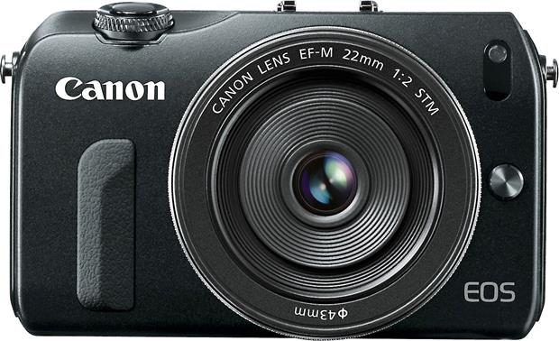 Canon EF-M 22mm f/2 STM Lens Shown mounted on the Canon EOS M camera (not included)