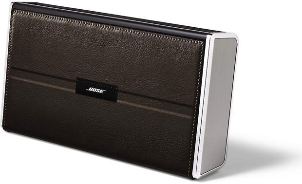 Bose&reg; SoundLink&reg; <em>Bluetooth&reg;</em> Mobile speaker II &#151; Leather Edition Black -right front view (with case closed)