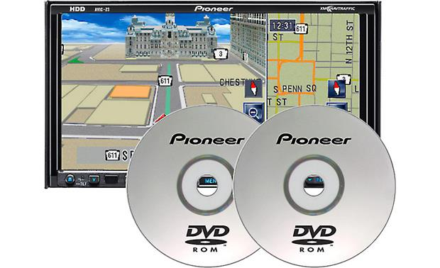 Pioneer CNDV-110HD Map Update Discs Front