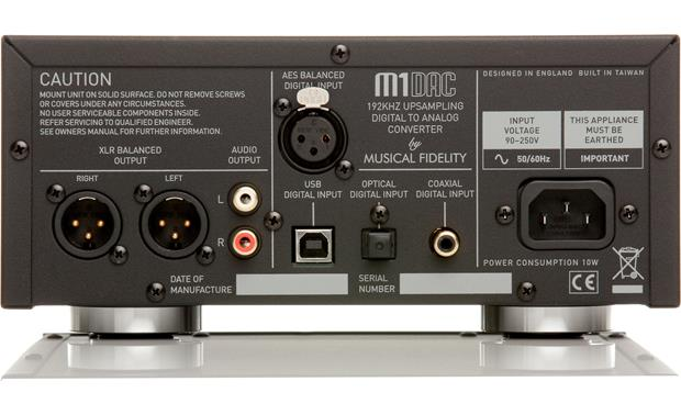 Musical Fidelity M1DAC A Back