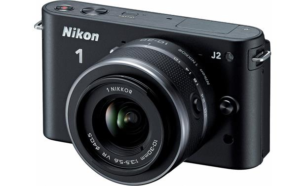 Nikon 1 J2 with 10-30mm VR Lens Front (Black)
