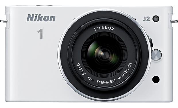 Nikon 1 J2 with 10-30mm VR Lens Front, straight-on