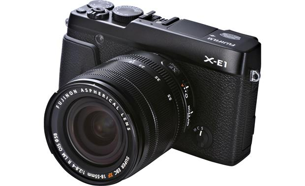 Fujifilm X-E1 Zoom Lens Kit Front (Black)