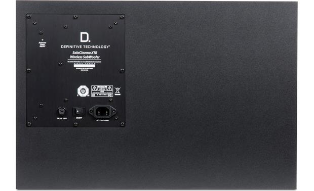 Definitive Technology SoloCinema XTR Back power panel