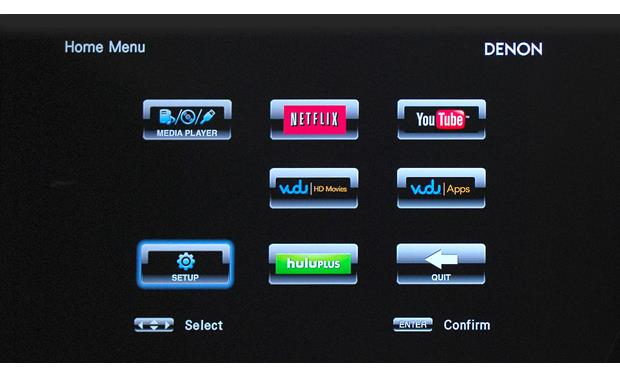 Denon DBT-3313UDCI Stream movies from Netflix and other services (subscription and network connection required)