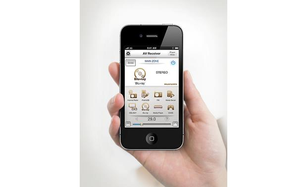 Marantz AV7701 App, shown on iPhone®