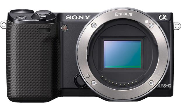 Sony Alpha NEX-5R with 3X Zoom Lens Front, straight-on (body only)