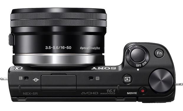 Sony Alpha NEX-5R with Low-profile 3X Zoom Lens Top view