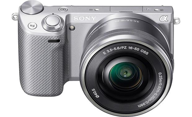 Sony Alpha NEX-5R with Low-profile 3X Zoom Lens Front, higher angle