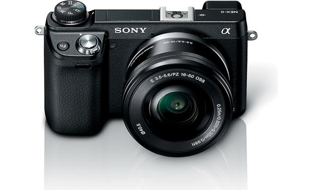 Sony Alpha NEX-6 Front, higher angle