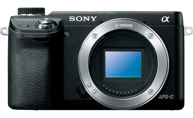 Sony Alpha NEX-6 Front, straight-on (body only)