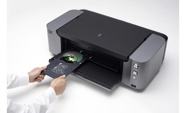 Canon PIXMA Pro-100 Using the included disc printing tray