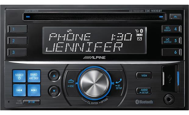 g500W235BT F alpine cde w235bt cd receiver at crutchfield com Alpine Cde-W265bt Installed at edmiracle.co