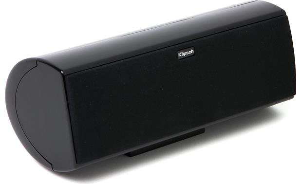 Klipsch HD Theater 600 Center channel speaker with grille attached (angled view)