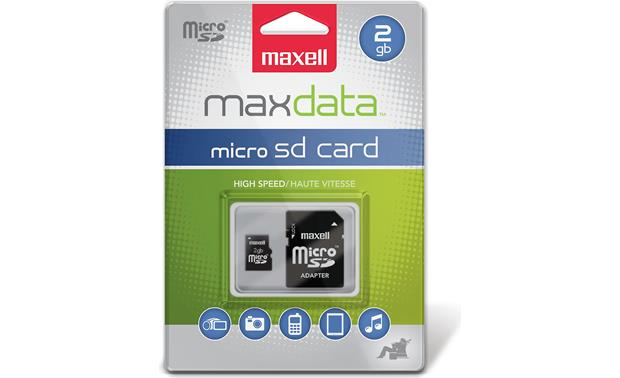 Maxell microSD Memory Card Front