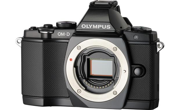 Olympus OM-D E-M5 3X Zoom Lens Kit Front, 3/4 angle, body only