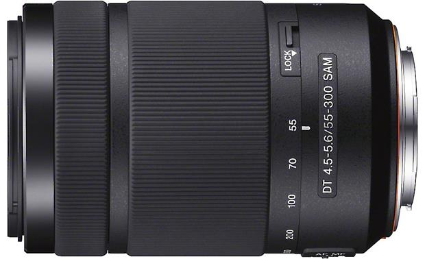 Sony SAL55300 55-300mm f/4.5-5.6 DT Top view