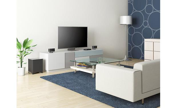Onkyo LS3100 Envision Cinema Shown in a potential configuration (furniture and TV not included)