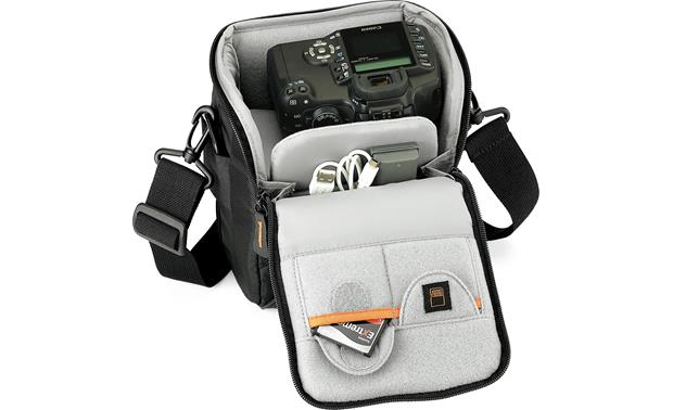 Lowepro Apex 120 AW Interior compartment, fully loaded (camera and accessories not included)