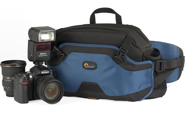 Lowepro Inverse 200 AW Made for pro DSLR with attached lens, extra lens and flash (not included)