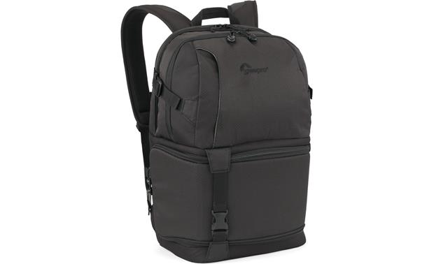 Lowepro DSLR Video Fastpack 250 AW Front, 3/4 view, from left