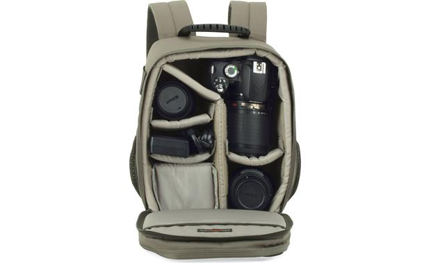 Lowepro Photo Traveler 150 Shown fully packed (gear not included)