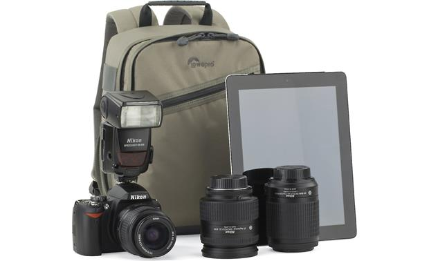 Lowepro Photo Traveler 150 Shown with camera and accessories for scale (not included)