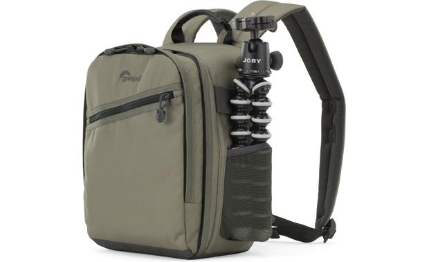Lowepro Photo Traveler 150 Shown with compact tripod (not included)