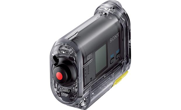 Sony HDR-AS15 Back, inside waterproof enclosure