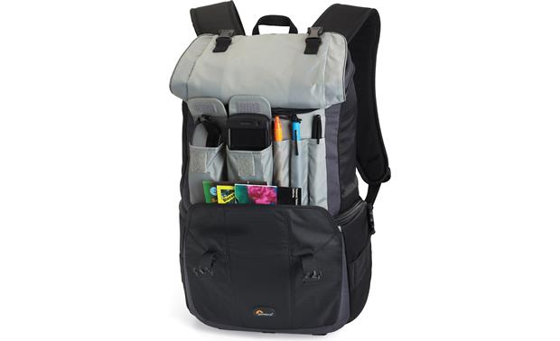 Lowepro Versapack 200 AW Flap pockets for quick access (contents not included)