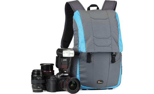Lowepro Versapack 200 AW Holds a DSLR with attached lens and extra lenses (not included)