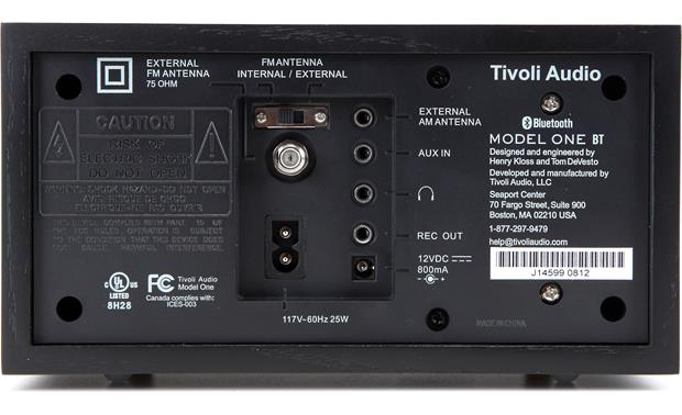 Tivoli Audio Model One® BT Back (shown in black ash)