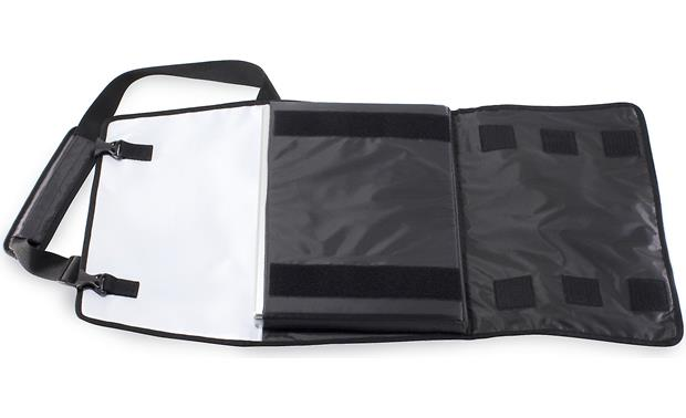 Acme Made Nopa Tri-Fold Tri-fold design will hold a laptop and bundle larger items (white model shown)