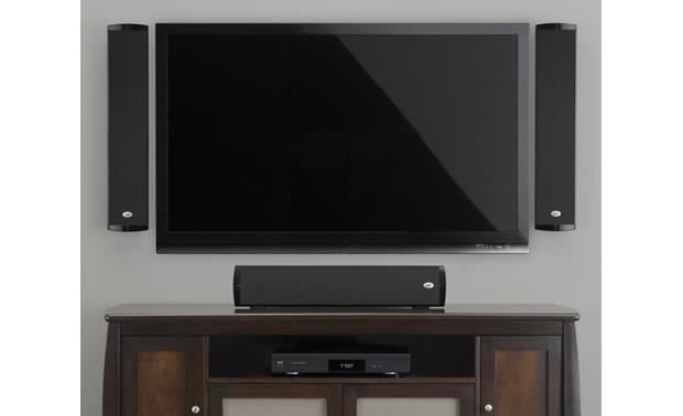 PSB Imagine W1 Shown with flat-panel TV