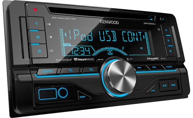 Kenwood DPX300U (Refurbished) Pictured with Toyota trim ring (included)