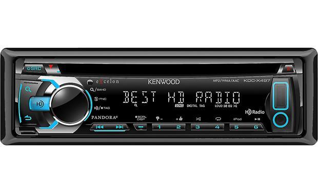 Kenwood Excelon KDC-X497 CD receiver at Crutchfield.com on