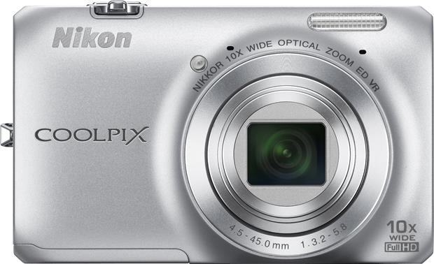 Nikon Coolpix S6300 Front - Silver