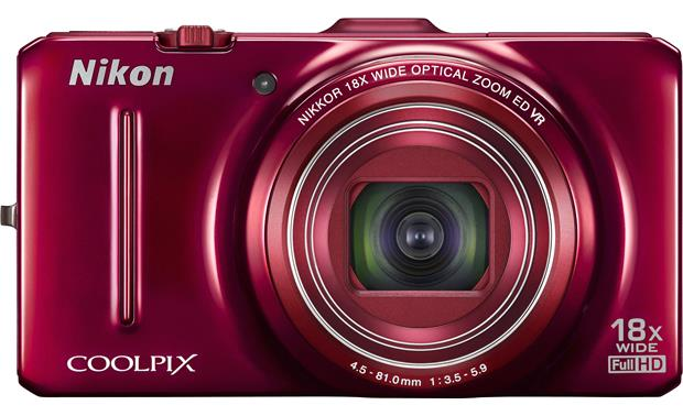 Nikon Coolpix S9300 Front - Red