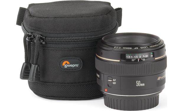 Lowepro Lens Case 8cm x 6cm shown with lens (not included)