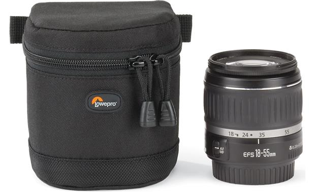 Lowepro Lens Case 9cm x 9cm shown with lens (not included)