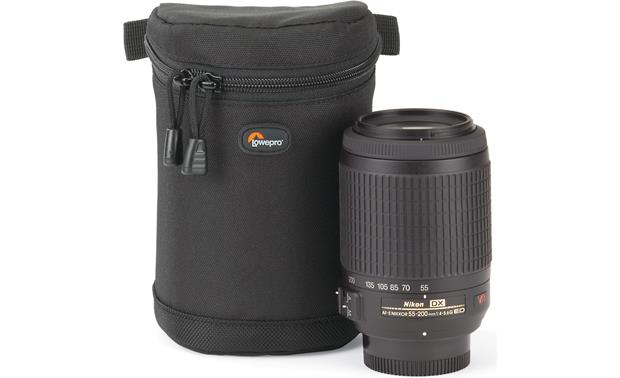 Lowepro Lens Case 9cm x 13cm shown with lens (not included)