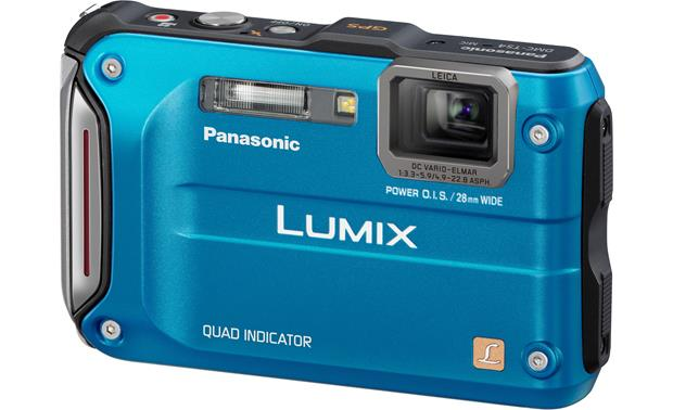 Panasonic Lumix DMC-TS4 Front - Blue