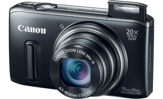 Canon PowerShot SX260 HS Flash up - Black
